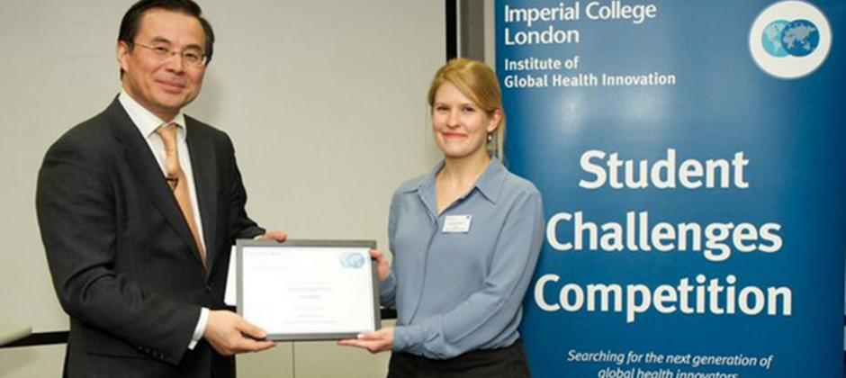Harriet Gliddon wins Global Health Innovation Competition
